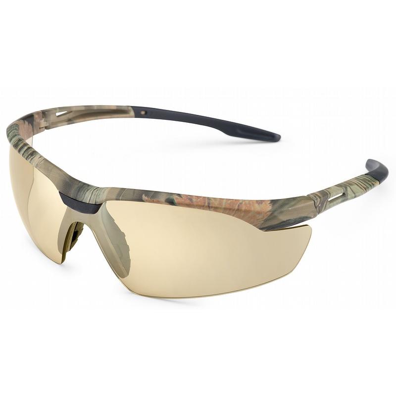 37b7c2d38d81 Gateway Conqueror - Camo Safety Glasses with Bronze Mirror Lens - 28CM5M