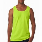Fruit of the Loom Sleeveless Tank Safety Green