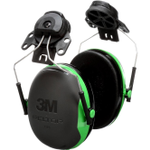 3M 3MRX1P3E Peltor Black And Green Cap Mount Earmuffs