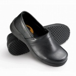 Genuine Grip 4330 Men's Slip-Resistant Soft Toe Slip On Shoe Black