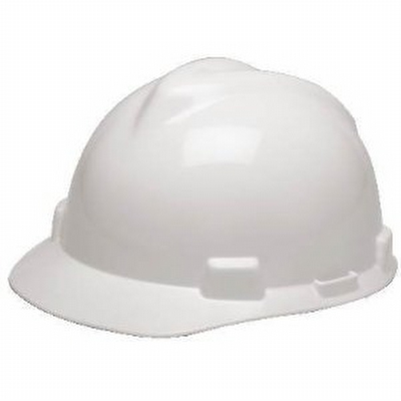 Msa White V Gard Slotted Hard Hat 454475358