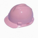 MSA V-Gard Pink Hard Hat with Pin Lock Suspension