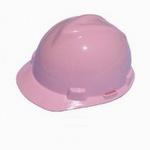 MSA V-Gard Pink Hard Hat with Pin Lock Suspension