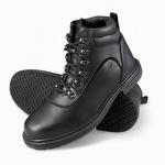 Genuine Grip 7130 Men's Slip-Resistant Side-Zip Steel Toe Boot Black