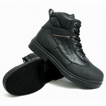 Genuine Grip 7800 Men's Slip-Resistant Steel Toe Waterproof Black Boot