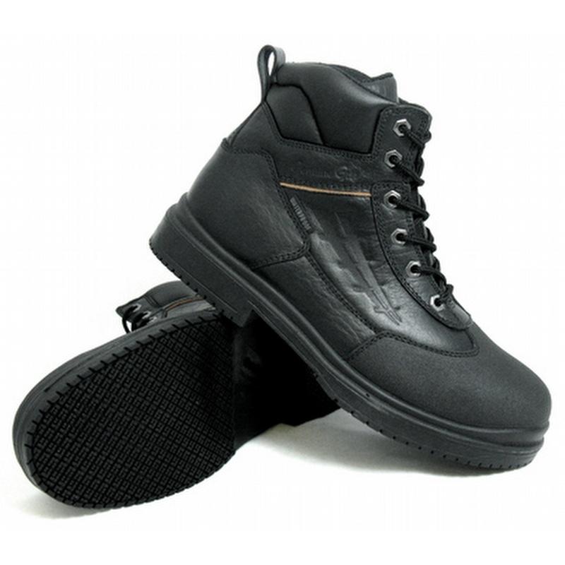 Genuine Grip 7800 Men's Slip-Resistant Steel Toe Waterproof Black ...