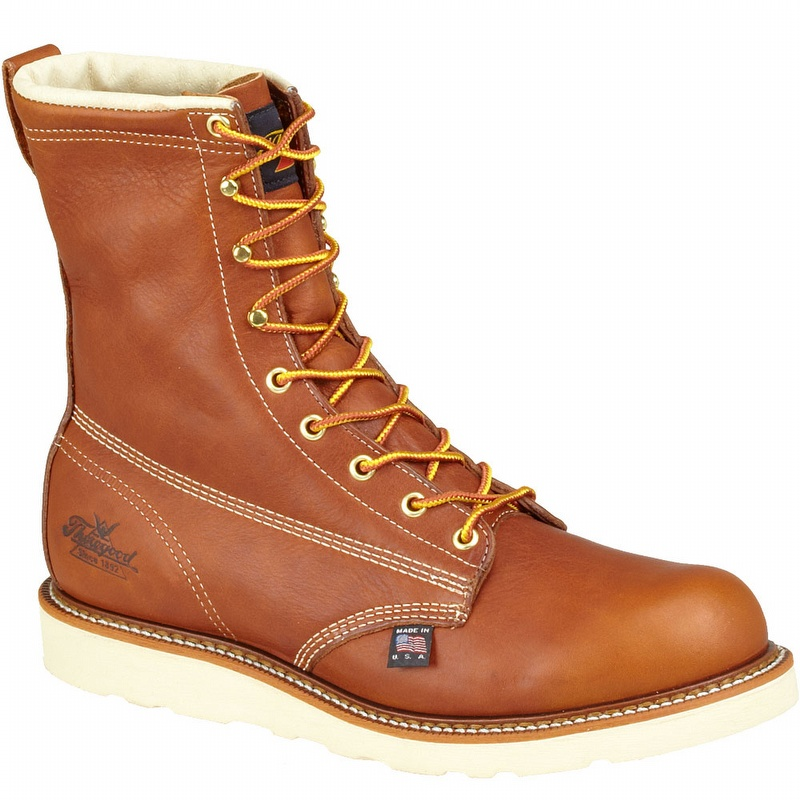 thorogood 8 inch steel toe leather boots 8044364