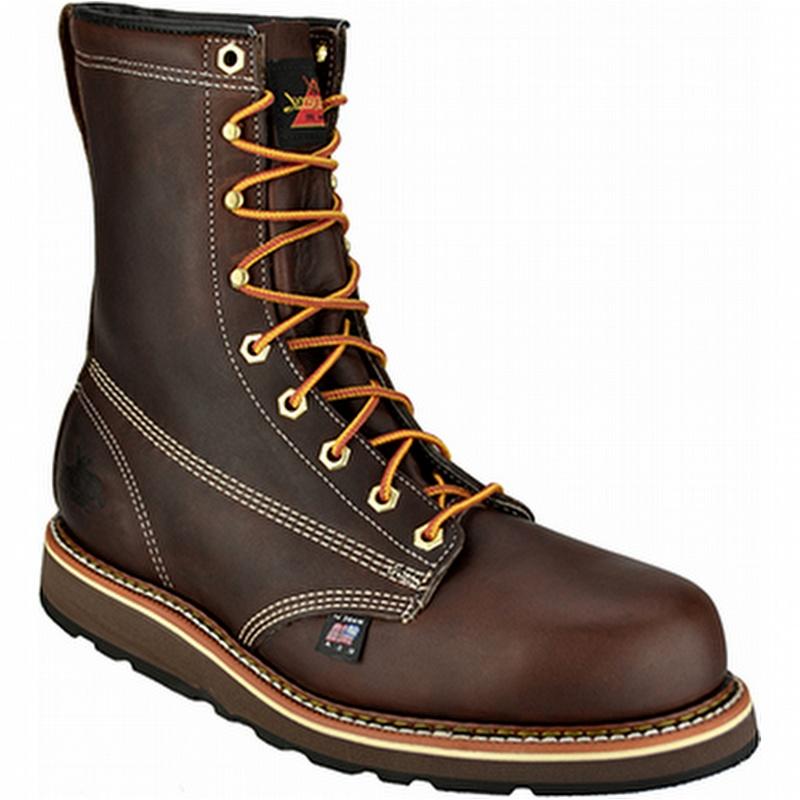 thorogood amercan heritage 8 quot steel toe wedge sole work