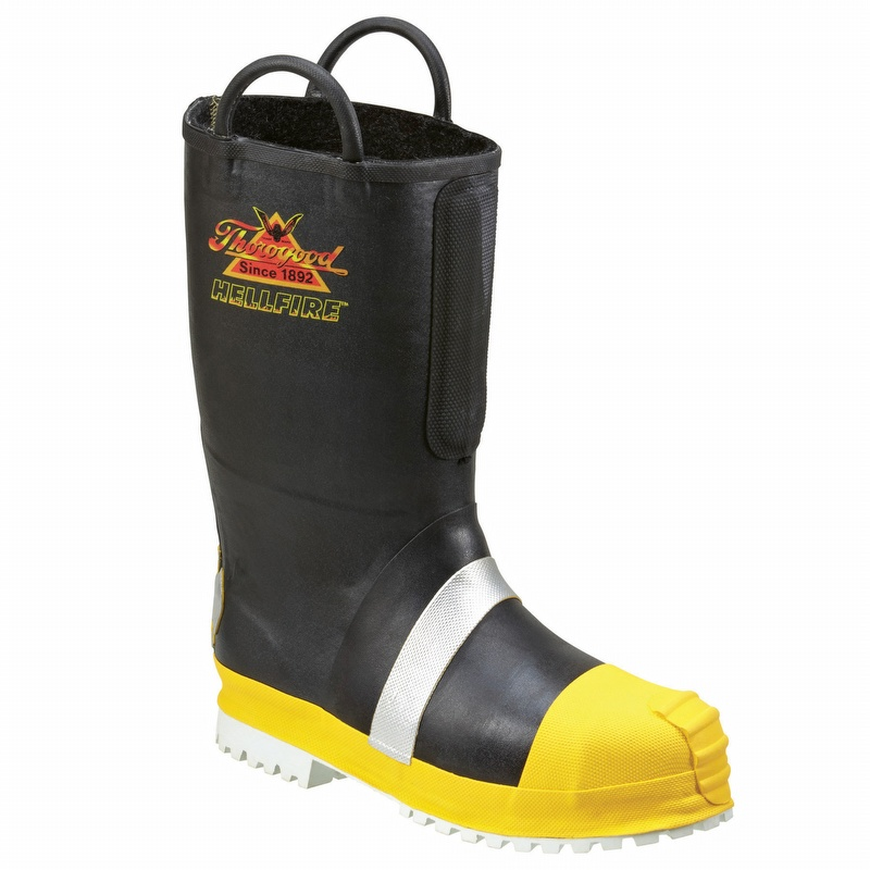 7bf4e781915 Thorogood Rubber Insulated Steel Toe Felt Fire Boot with Lug Sole