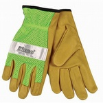 Kinco Unlined Grain Pigskin Mesh Back Gloves