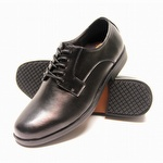 Genuine Grip 9540 Men's Slip-Resistant Soft Toe Oxford Black