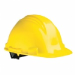 North Peak Hard Hat with Ratchet Adjustment Yellow