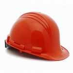 North Peak Hard Hat with Ratchet Adjustment Orange