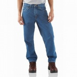 Carhartt B17 Relaxed Fit Tapered Leg Jean Stonewash