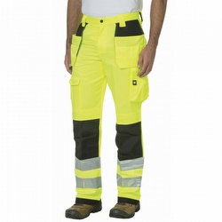 b71dca73348 Caterpillar CAT C172EHV Hi-Vis Yellow Trademark Work Pants