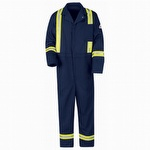 Bulwark 9oz classic coverall with Reflective Striping