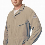 Bulwark 5.8 oz CoolTouch 2 Khaki Deluxe Coverall