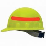 Fibre-Metal Supereight Cap Hi-Vis Yellow with Orange Reflective Tape