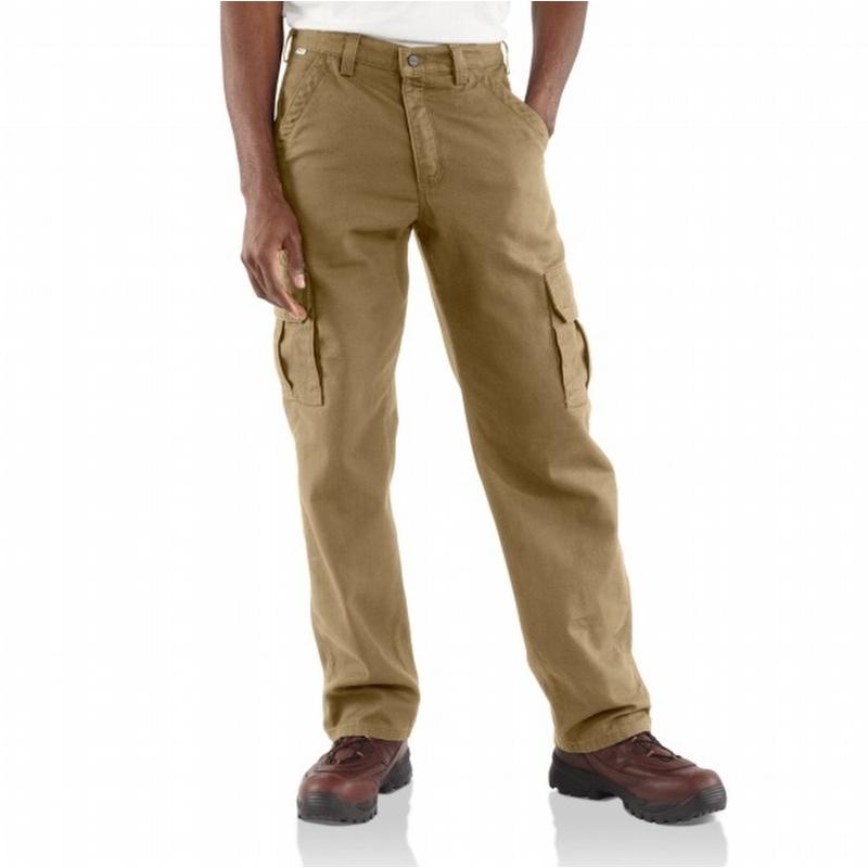 1aa1bf35eda9 Carhartt FRB240 Flame-Resistant Canvas Cargo Pant Golden Khaki ...