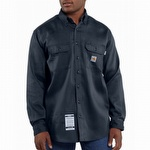 Carhartt FRS003 Flame-Resistant Work-Dry Twill Shirt Dark Navy