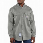 Carhartt FRS003 Flame-Resistant Work-Dry Twill Shirt Gray