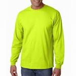 Gildan G2400 Adult Ultra Cotton Long Sleeve T-Shirt Yellow/Green