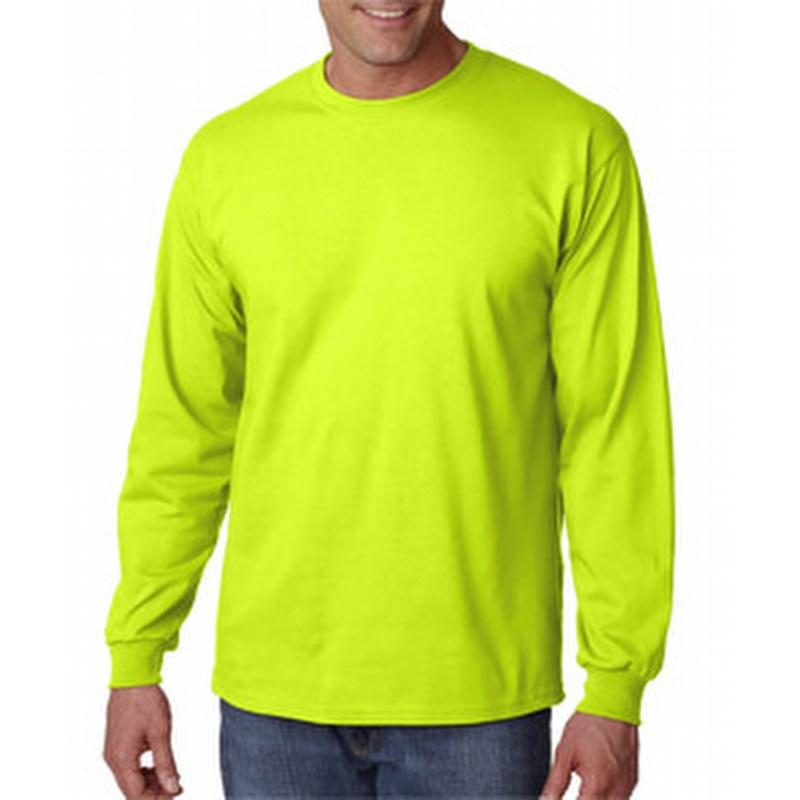 Gildan g2400 adult ultra cotton long sleeve t shirt yellow for Yellow long sleeved t shirt
