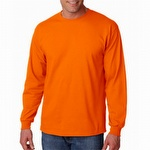 Gildan G2400 Adult Ultra Cotton Long Sleeve T-Shirt Orange