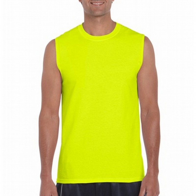 9ad447fdc Gildan G2700 Sleeveless Hi Vis Yellow T Shirt - G2700