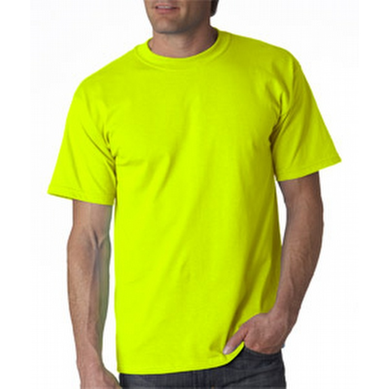 Gildan 2000 Safety Yellow Green Tee Gd2000
