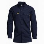 Lapco FR 7 oz Navy Ultra Soft Uniform Shirt