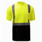 GSS Safety 5111 Black Bottom Hi-Viz T-Shirt