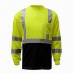 GSS Safety 5113 Black Bottom Hi-Viz Long Sleeve T-Shirt