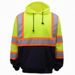 GSS Safety 7005 Class 3 Two Tone Pullover Sweatshirt Lime