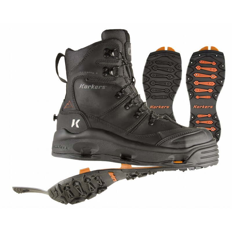 SnowJack Pro Safety Toe Boot w Interchangeable Ice Traction Soles ...