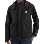 Carhartt J162 Shoreline Heavy Duty Waterproof Rain Jacket in Black