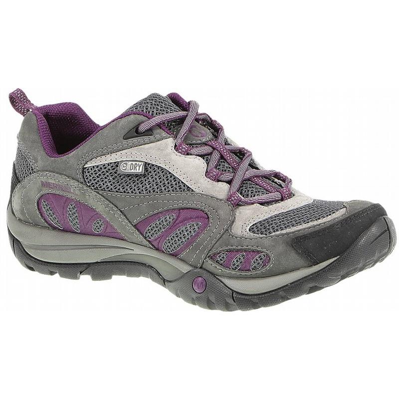 Merrell Women's Azura Waterproof Hiking Shoe Castle Rock and Purple