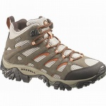 Merrell J88790 Womens Moab Mid Waterproof Hiking Boot Bungee Cord