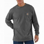 Carhartt K126 Workwear Pocket Long-Sleeve T-Shirt Charcoal