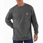Carhartt K126 Workwear Pocket Long-Sleeve T-Shirt Charcoal