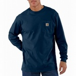 Carhartt K126 Workwear Pocket Long-Sleeve T-Shirt Navy