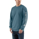 Carhartt K231 Mens Long Sleeve Graphic T-Shirt Steel Blue