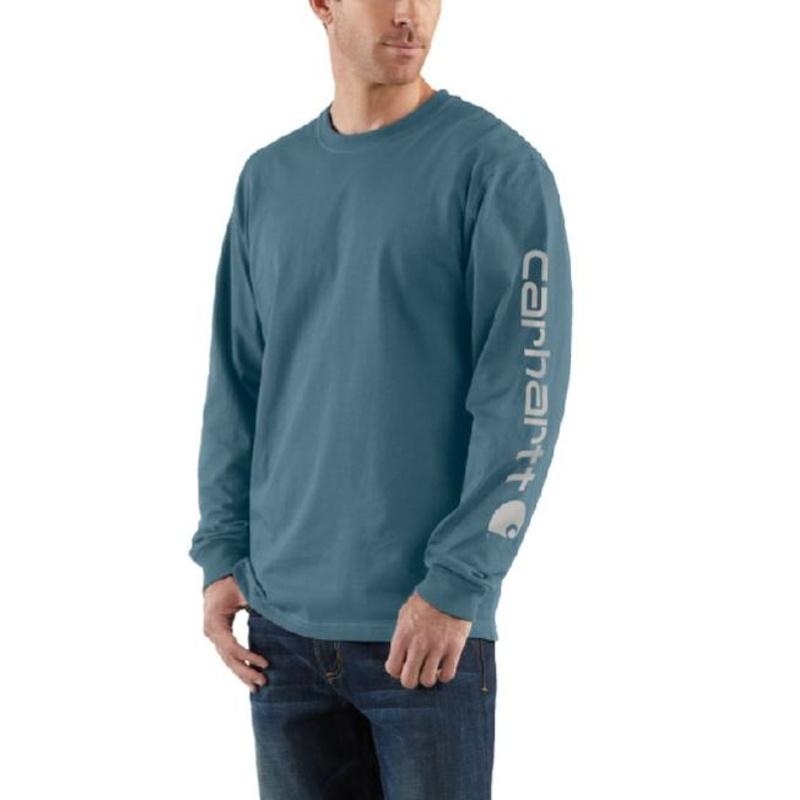 25653ce90b Carhartt K231 Mens Long Sleeve Graphic T-Shirt Steel Blue