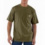 Carhartt K87 Workwear Short Sleeve T Shirt Army Green