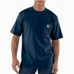 Carhartt K87 Workwear Short Sleeve T Shirt Navy