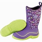 Muck Boots Kid's Hale Outdoor Sport Boot Purple Frogs
