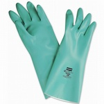 North LA132G Green Nitrile Gloves, Flocked (12-pack)