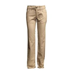 66f8f53dd11 Lapco L-PFRAC 7oz Ladies FR Uniform Pant with UltraSoft AC CAT 2 Khaki