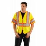 OccuNomix Economy Zipper 2 Tone Mesh Short Sleeve Hi-Viz Class 3 Vest