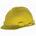 MSA Yellow V-GARD Slotted Hard Hat